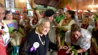 Her Majesty The Queen Mother, Queen Halaevalu Mata'aho 90th Birthday Celebrations. May, 2016. Kingdom of Tonga.