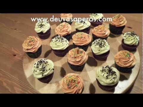 Como Hacer Cupcakes con Crema de Mantequilla para Cupcakes - ButterCream