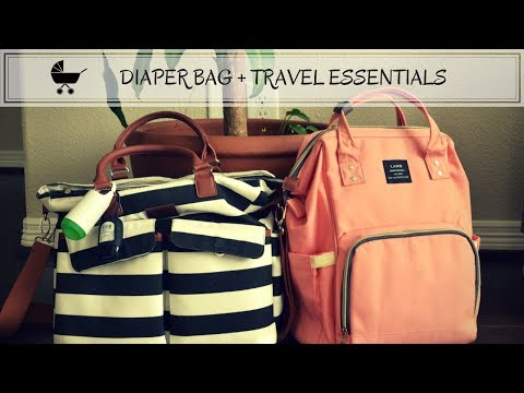 TRAVEL DIAPER BAG ESSENTIALS | BABY TRAVEL PRODUCTS I ❤️