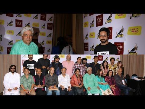 Ayushmann Khurrana & Javed Akhtar At Grand Jury meet Of Radio Mirchi Music Awards