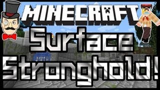 Minecraft SURFACE STRONGHOLD ! Amazing Open Air Structure !