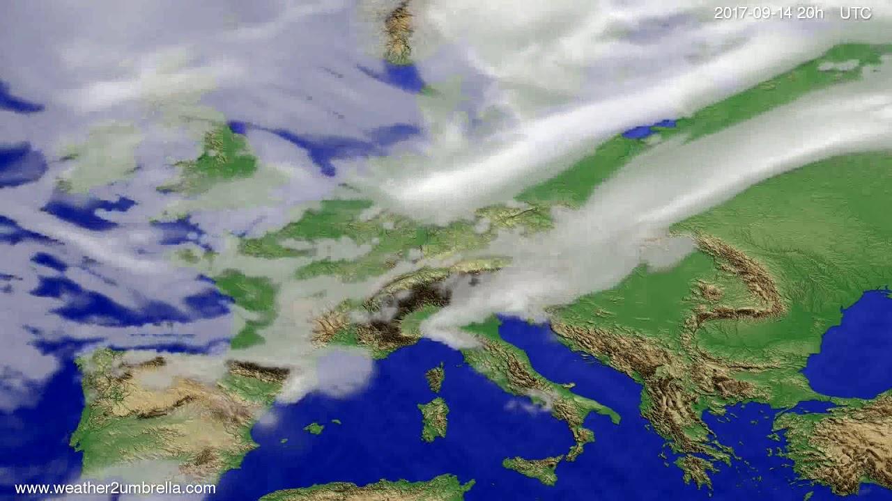 Cloud forecast Europe 2017-09-12