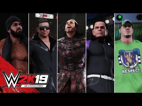 WWE 2K19 Entrances: Woken Matt Hardy, Jeff Hardy, John Cena, The Miz & Jinder Mahal