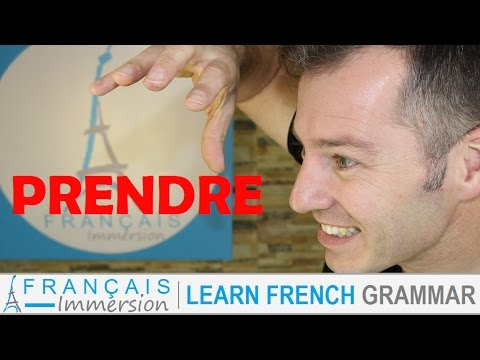 PRENDRE Conjugation & Meaning (to take) present tense + FUN! (Learn French Verbs)