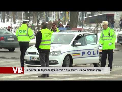 Bulevardul Independenței, închis o oră pentru un eveniment secret