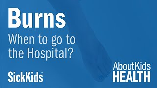 When to take my child to the hospital