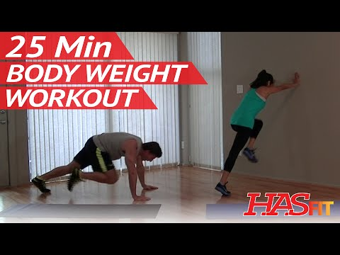 25 Min Insane Body Weight Workout – HASfit Workouts without Weights Equipment Bodyweight Exercises