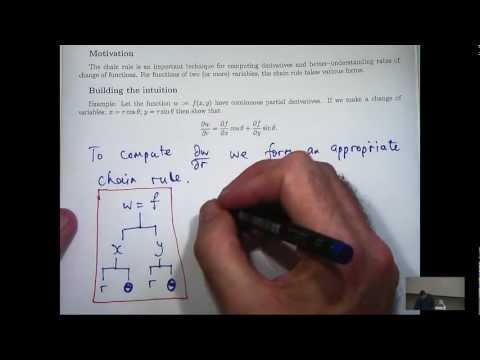 Kettenregel + partiellen Ableitungen