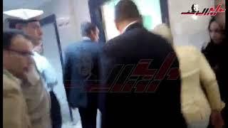 لحظة وصول وزيرة الصحة مستشفى ديرب نجم بعد كارثة الغسيل الكلوى