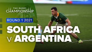 South Africa v Argentina Rd.1 2021 Rugby Championship video highlights