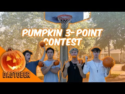 3-Point Shooting Contest with Pumpkins!! | WeAreTheDads