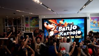 Banjo-Kazooie Reveal for Super Smash Bros. Ultimate Live Reactions at Nintendo NY