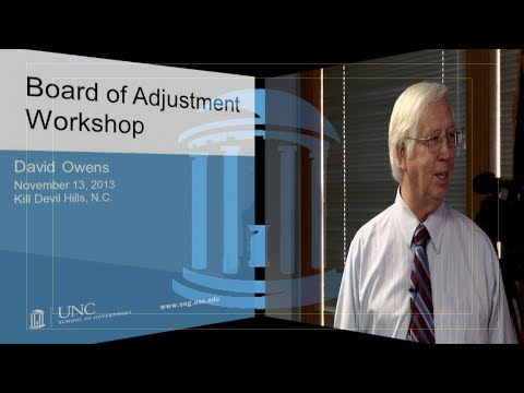 Board of Adjustment Workshop 2013