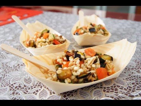 insalata di farro e orzo - ricetta