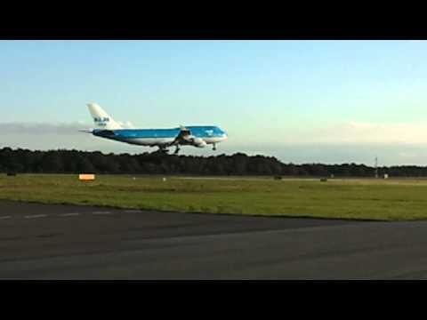 Boeing 747 testvlucht groningen airport eelde