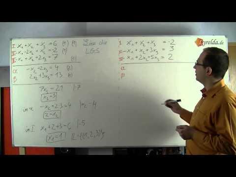 Lösen eines Lineraen Gleichungssystem (LGS)