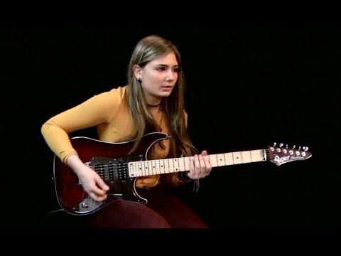16-Year Old Girl Shreds on Iron Maiden's