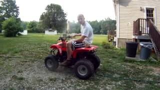 6. polaris scrambler 90cc 2 stroke ATV 4 wheeler quad youth