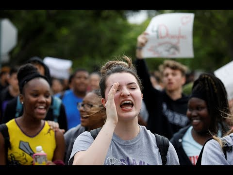 US students stage school walkouts after Florida shooting