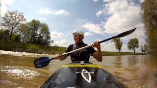 Doing some kayak-training, preparing for the big rainfalls and the hardcore sessions...