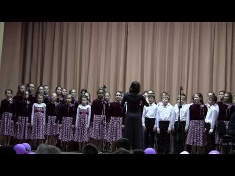 Старший хор \Акварель\ отделение доп.образования школа 1103.  \Эта музыка\