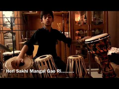 Video Ae ri Sakhi Mangal Gao Ri.... Tabla Cover by Arsh download in MP3, 3GP, MP4, WEBM, AVI, FLV January 2017