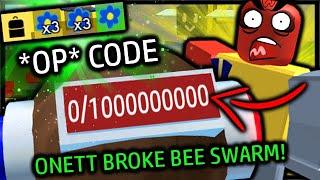 1 *BILLION* BAG CAPACITY With this NEW OP CODE - Onett BROKE Bee Swarm! | Roblox Bee Swarm Simulator