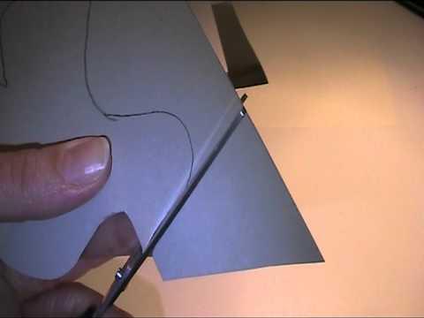 Teil 2 Glückwunschkarte mit Taube basteln - Bastelvideo
