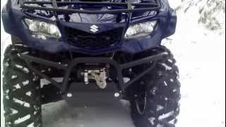1. 2012 Suzuki Kingquad 400 review with HMF exhaust