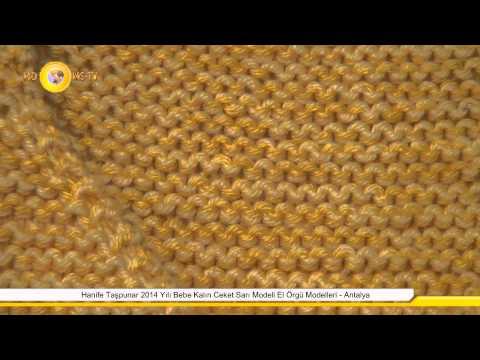 Hanife Taşpunar 2014 Yılı Bebe Kalın Ceket Sarı Modeli El Örgü Modelleri - Antalya
