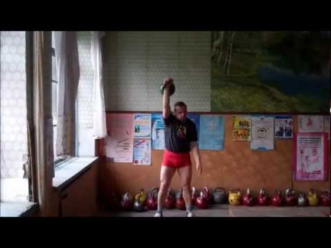 New record - Fedor Fuglev- Snatch 24 kg kettlebell 10 min / 300 reps - one hand switch