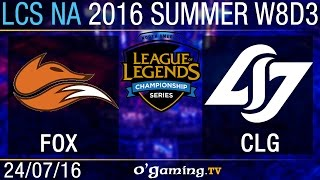 CLG vs Echo Fox - LCS NA Summer Split 2016 - W8D3