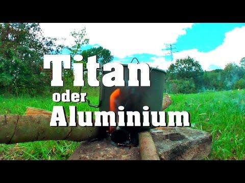 Titan oder Aluminium Becher?