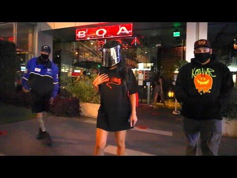 Nikita Dragun Dons Full Face Shield To Alex Warren's 20th Birthday Bash