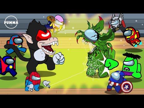 AMONG US: but with SUPERHEROES VS ZOMBIE Ep 4 - Among Us Transformations Animation Meme [PUMMA]