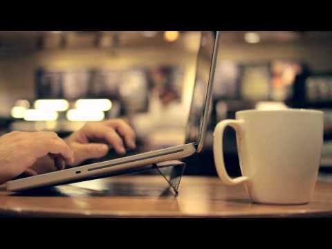 thinnest laptop - Learn more or purchase the AViiQ laptop stand at http://www.aviiq.com/ With a laptop stand at .25 inches thin, the world just got smaller. Designed with the ...