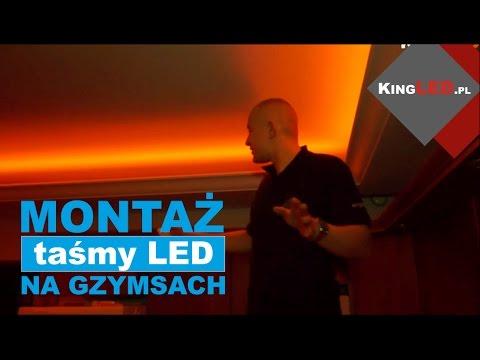 Gzyms LED - jak zamontować taśmę LED na gzymsie