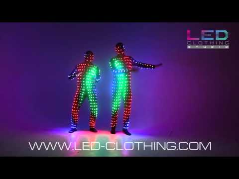 Ad for awesome LED suit ruined by incredibly awkward dancing