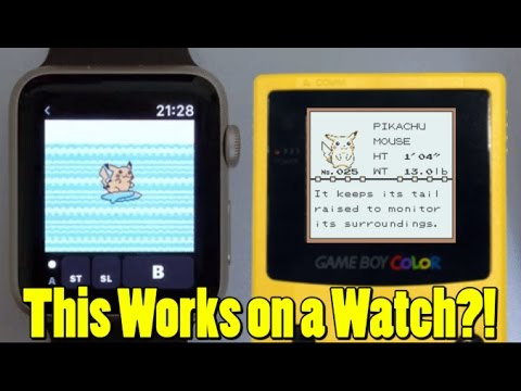 The Apple Watch Now Plays Gameboy Color Games