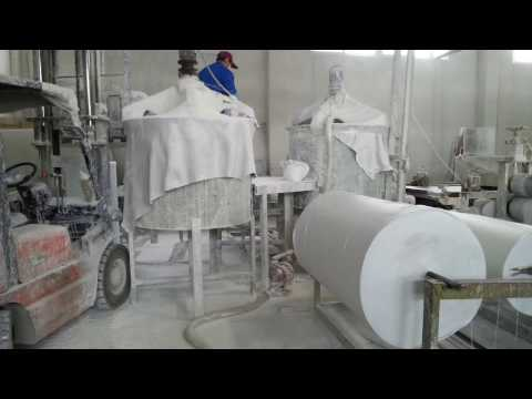 Polyester fiber insole board production line