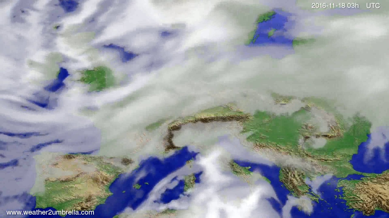 Cloud forecast Europe 2016-11-15