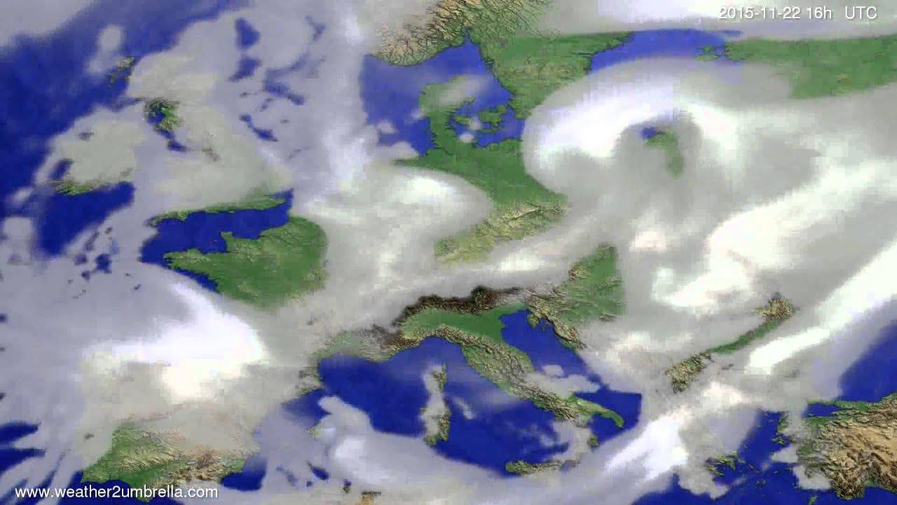 Cloud forecast Europe 2015-11-19