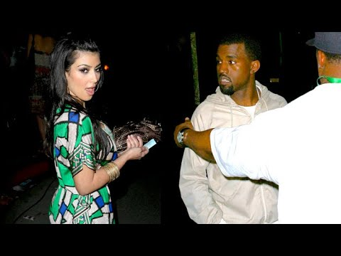 Kanye West Parties It Up In Hollywood With Kim Kardashian And Sister Khloe [2008]