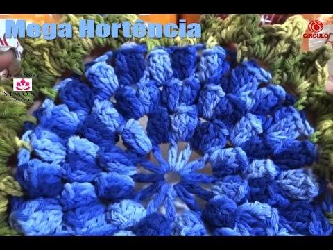 Flor Mega Hortencia Barroco parte #1 - Professora Simone