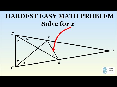 Download Can You Solve The Hardest Easy Geometry Problem? HD Mp4 3GP Video and MP3