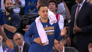 Stephen Curry Does the Salsa Dance - Suns vs Warriors - April 02, 2015 NBA Season 2014-15