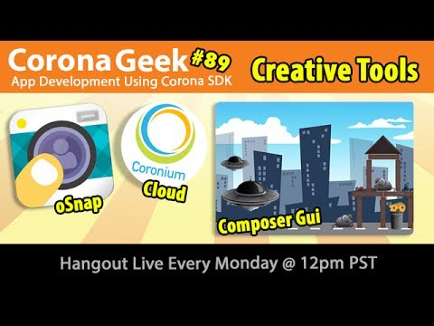 Corona Geek #89 – Coronium Analytics, oSnap Selfie App, and Music Apps