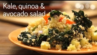 How to Make Kale, Quinoa and Avocado Salad