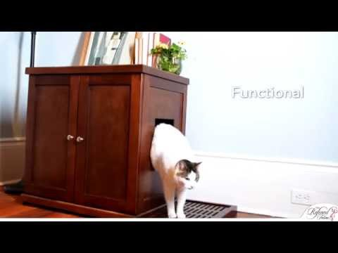Refined Litter Box.  A cat litter box cabinet from The Refined Feline