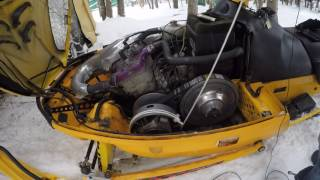 7. How to start a Ski-doo snowmobile with a broken recoil starter (Pull-Start)